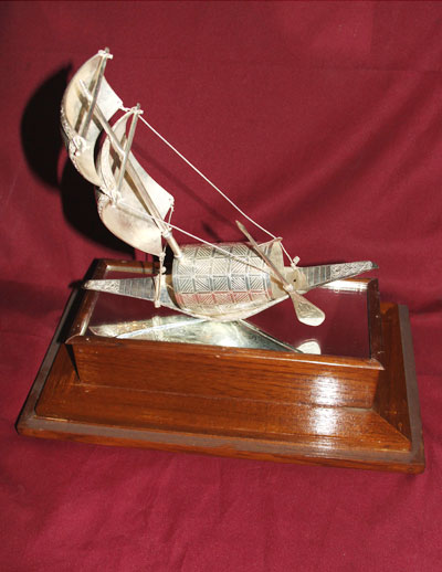 A Model of the Boat (The Election Symbol of the Awami League)